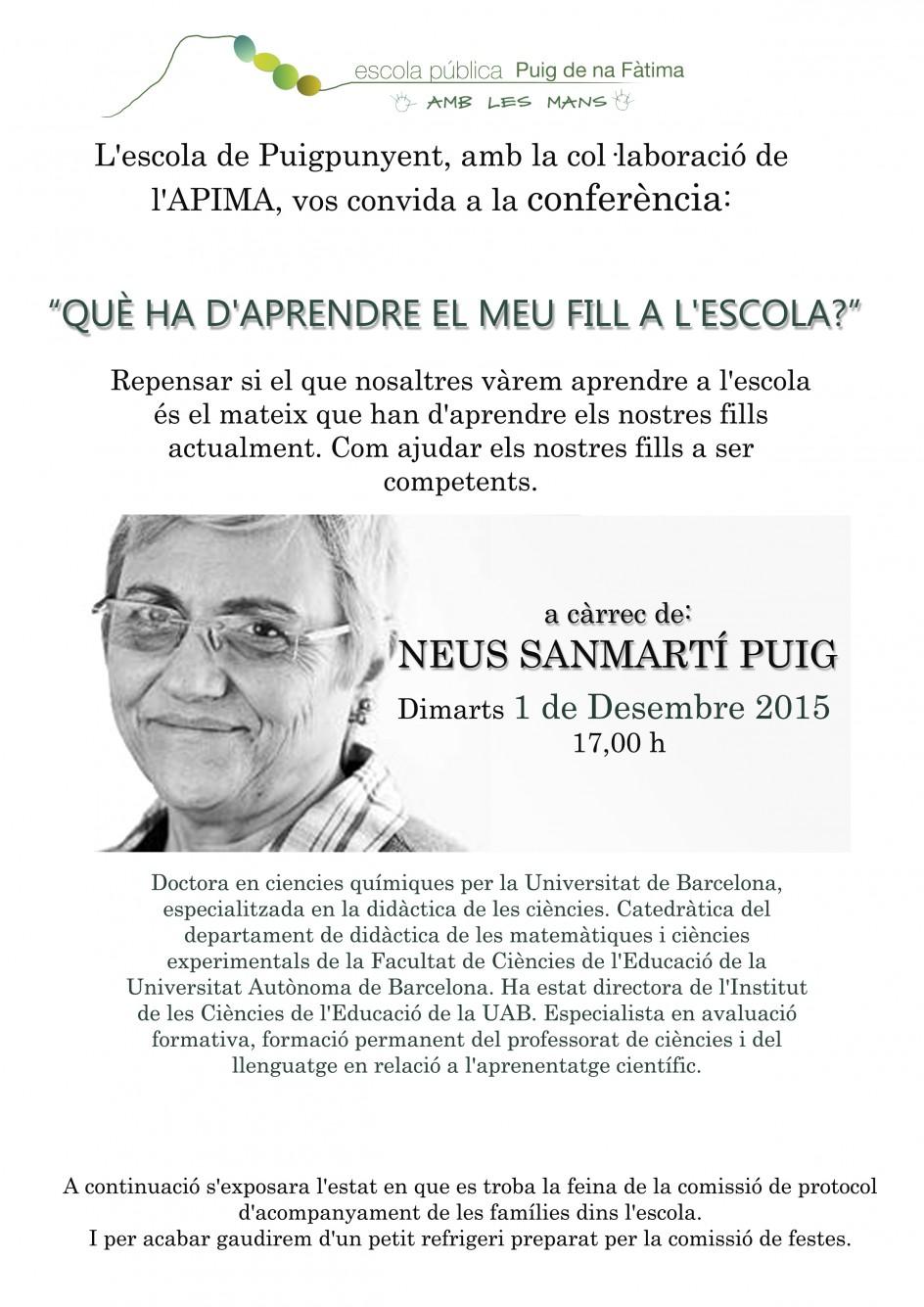 conferencia NEUS SANTMARTÍ